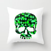 Triangle Camouflage Skul… Throw Pillow