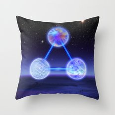 CSETI Logo in 3D Throw Pillow