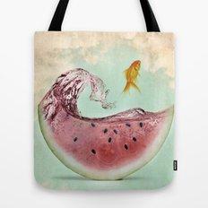 watermelon goldfish 02 Tote Bag