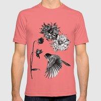 Bird Mens Fitted Tee Pomegranate SMALL