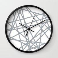 To The Edge Grey Wall Clock
