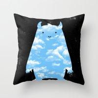 Mr. Sky Throw Pillow