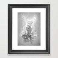 Framed Art Print featuring Expecto Patronum by Sam Spratt