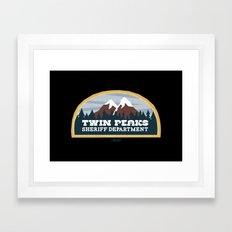 Twin Peaks Sheriff Department (Redux) Framed Art Print