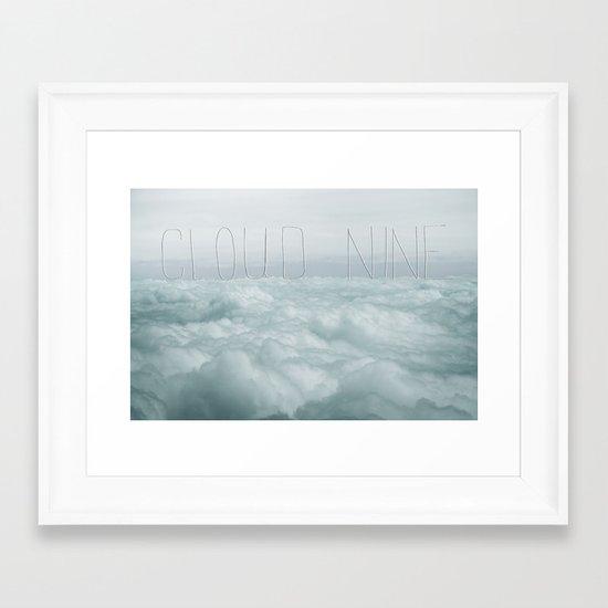cloud nine Framed Art Print