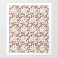 Rose Damask Orchid Art Print