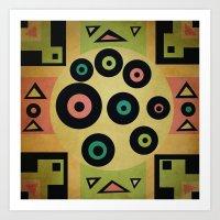 carpet pattern Art Print