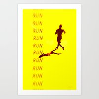 Run Run Run Art Print