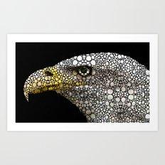 Bald Eagle Art - Eagle Eye - Stone Rock'd Art Art Print