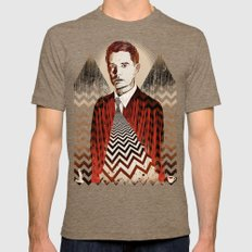 Twin Peaks ∆∆ Mens Fitted Tee Tri-Coffee SMALL