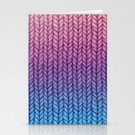 Chunky Knit Pattern In P… Stationery Cards