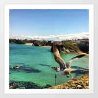 Hello Mr. Seagull Art Print