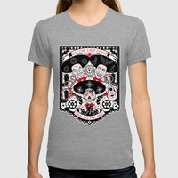 Amigos Forever Womens Fitted Tee Tri-Grey SMALL