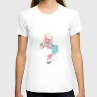 sassy doll Womens Fitted Tee White SMALL