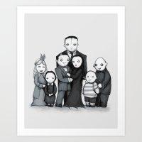 Spooky Plushie Family Art Print