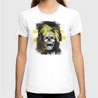 Andy POSTportrait Womens Fitted Tee White SMALL