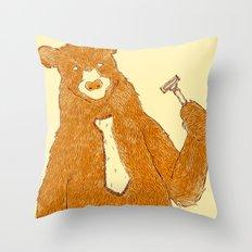 Office Bear Throw Pillow