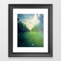 Apple Orchard In Spring Framed Art Print