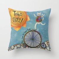 Take Flight With The Sun… Throw Pillow