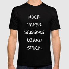 Rock Paper Scissors Mens Fitted Tee SMALL Black