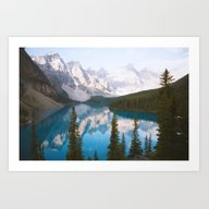 Lake Moraine Dos Art Print