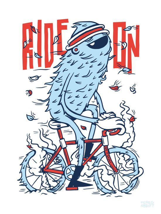 Ride On Art Print