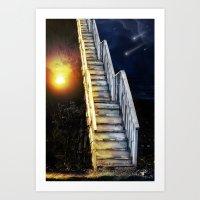 Stairway To.... U Guess!… Art Print