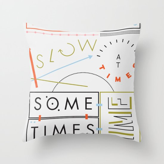Haikuglyphics - Thyme Throw Pillow