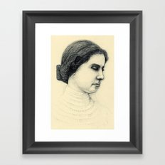 Hellen Keller in ink Framed Art Print