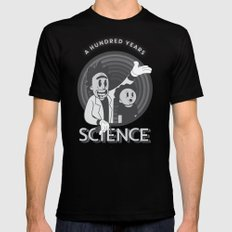 A HUNDRED YEARS SCIENCE SMALL Mens Fitted Tee Black