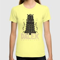 Dalek Unchained Womens Fitted Tee Lemon SMALL