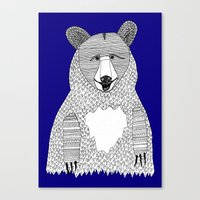 Blue Bear Canvas Print