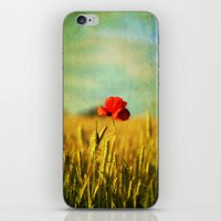 Poppy In A Grain Field iPhone & iPod Skin