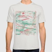 PAINTERLY Mens Fitted Tee Silver SMALL