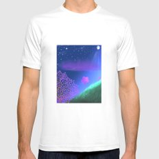 FLOWER IN THE WIND Mens Fitted Tee White SMALL