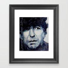 Leonard Cohen Framed Art Print