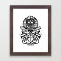 SAILOR SKULL Framed Art Print