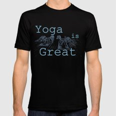 Yoga Is Great : Blues Take Two Mens Fitted Tee Black SMALL