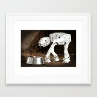 Pedigree scum Framed Art Print