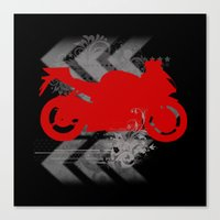 Racing Canvas Print