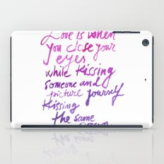 Love quotes iPad Case