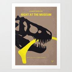 No672 My Night at the Museum minimal movie poster Art Print