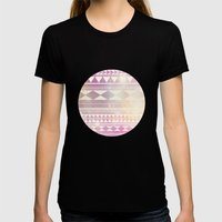 Galaxy Tribal Womens Fitted Tee Black SMALL