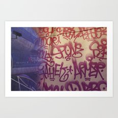 Graffiti on Abercrombie 01 Art Print