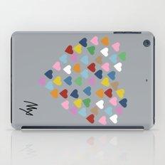 Hearts Heart Multi Grey iPad Case