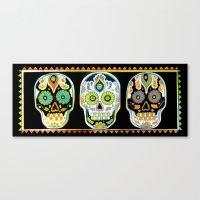 Tres Cráneos Canvas Print