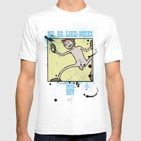 Me No Like Boxes Mens Fitted Tee White SMALL