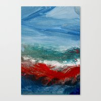 By The Angry Seashore Canvas Print