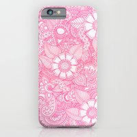 iPhone & iPod Case featuring Henna Design - Pink by haleyivers