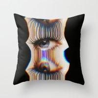 Drip Eye Drip Throw Pillow